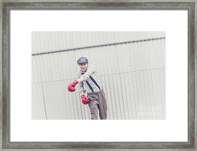 Young Male Boxer Throwing A Offensive Jab Framed Print by Jorgo Photography - Wall Art Gallery