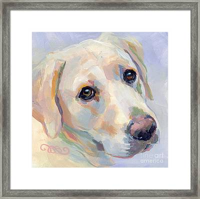 Young Man Framed Print by Kimberly Santini
