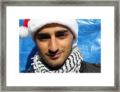 Young Palestinian Man Framed Print by Munir Alawi