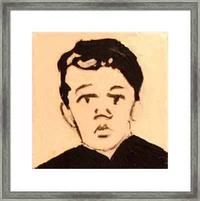 Young Patriot Framed Print by Anne-Elizabeth Whiteway