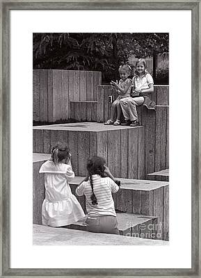 Young Photographers Framed Print by Jim Corwin
