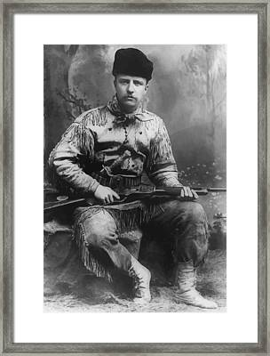Young Teddy Roosevelt Framed Print by War Is Hell Store