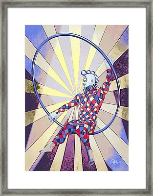 Younger Tightrope  Framed Print by Quim Abella