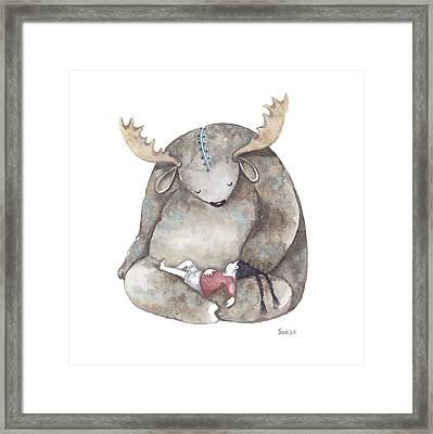 Your Dreams Are Safe With Me Framed Print by Soosh
