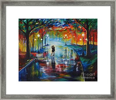 Your Love Framed Print by Leslie Allen