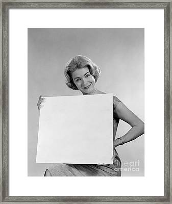 Your Message Here, C.1960s Framed Print by H. Armstrong Roberts/ClassicStock
