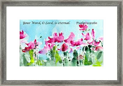 Your Word O Lord Framed Print by Anne Duke
