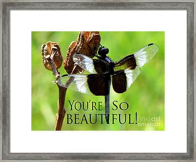 You're So Beautiful Framed Print by Gardening Perfection