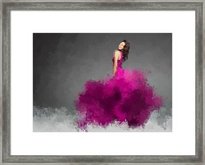 Ysabel - Orchid Framed Print by Nancy Levan