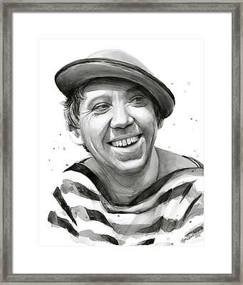 Yuriy Nikulin Portrait Framed Print by Olga Shvartsur