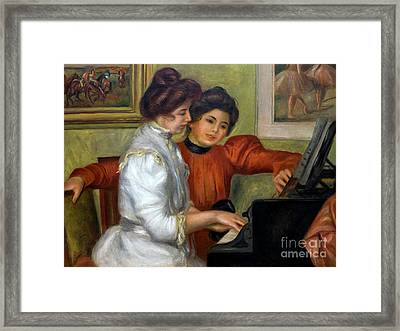 Yvonne And Christine Lerolle At The Piano, By Pierre-auguste Ren Framed Print by Peter Barritt