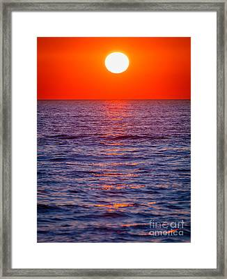Zadar Sunset Framed Print by Inge Johnsson