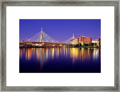 Zakim Twilight Framed Print by Rick Berk