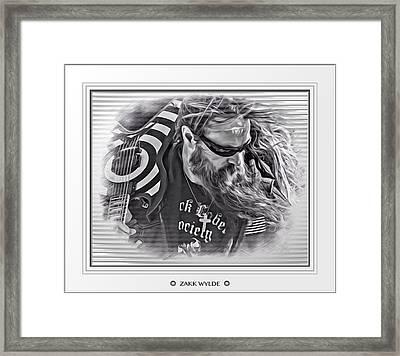 Zakk Wylde Sketch Matted Framed Print by Scott Wallace