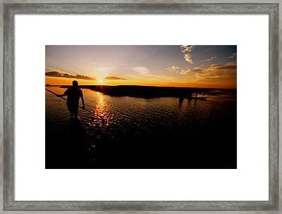 Zambia Zambezi River Mokoro  Framed Print by Julian Wicksteed