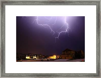 ZAP Framed Print by Shane Bechler