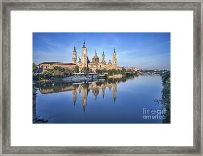 Zaragoza Reflection Framed Print by Colin and Linda McKie
