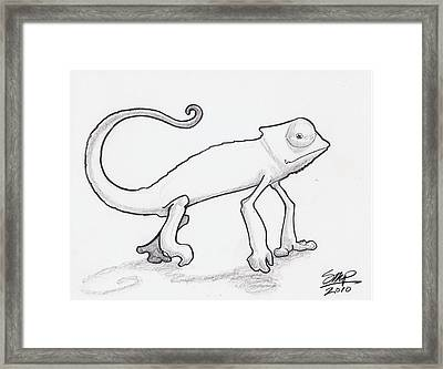 Zardoz The Chameleon  Framed Print by Sean Paradise