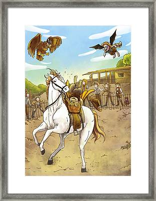 Zeke Passes The Test Framed Print by Reynold Jay