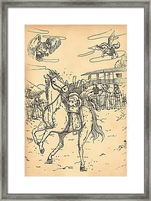 Zeke Rides A Pinto Framed Print by Reynold Jay