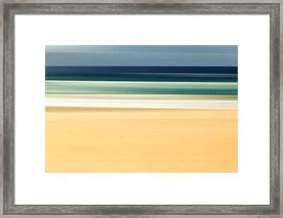Zen Beach Framed Print by Az Jackson