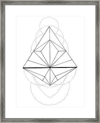 Zen Geometry Framed Print by Elizabeth Davis