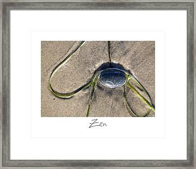 Zen Framed Print by Peter Tellone