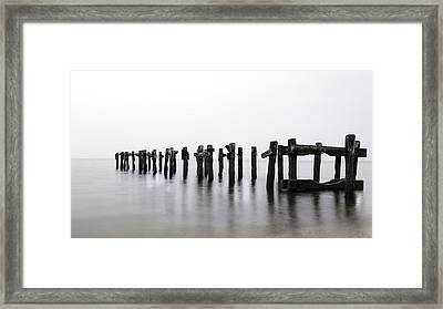 Zen Piers By Tom Schoeller - Open Edition Print Framed Print by Thomas Schoeller
