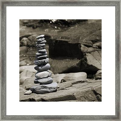 Zen Power Tower Framed Print by Betsy C Knapp