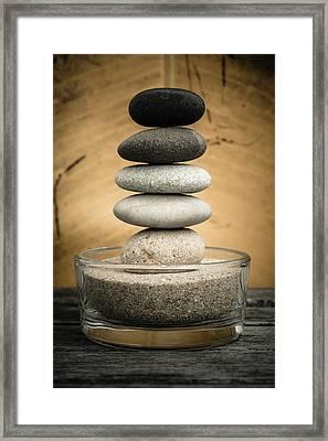 Zen Stones I Framed Print by Marco Oliveira