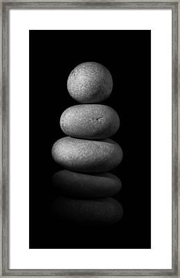 Zen Stones In The Dark II Framed Print by Marco Oliveira