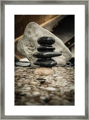 Zen Stones V Framed Print by Marco Oliveira