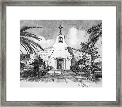 Zephyrhills Catholic Church Framed Print by Rod Varney