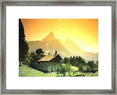 Zermatt Sunset   William Kaluta Artist Framed Print by William Kaluta