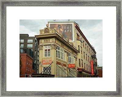 Zeus Cafe 3 Framed Print by Fraida Gutovich