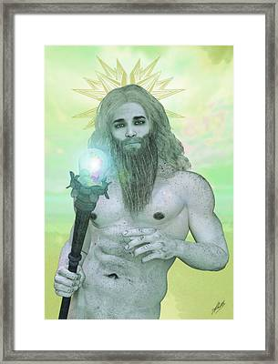 Zeus King Of The Gods Framed Print by Joaquin Abella