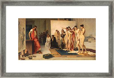 Zeuxis Choosing Five Young Women Framed Print by Pietro Michis