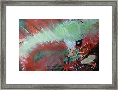 Zig-zag Explosion Framed Print by Anne-Elizabeth Whiteway
