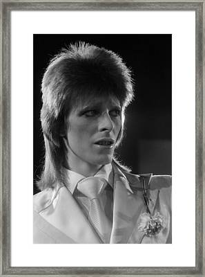 Ziggy At The Marquee Club  Framed Print by Terry O'Neill