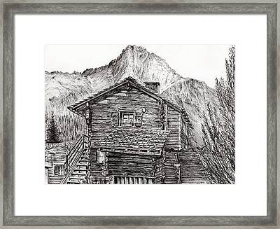 Zinal Switzerland Framed Print by Vincent Alexander Booth