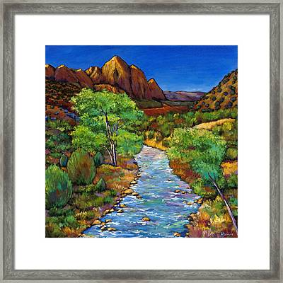 Zion Framed Print by Johnathan Harris