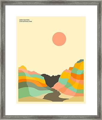 Zion National Park Framed Print by Jazzberry Blue