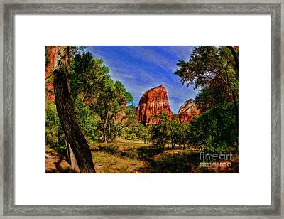 Zion Tranquility Framed Print by Blake Richards