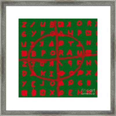 Zodiac Killer Code And Sign 20130213 Framed Print by Wingsdomain Art and Photography
