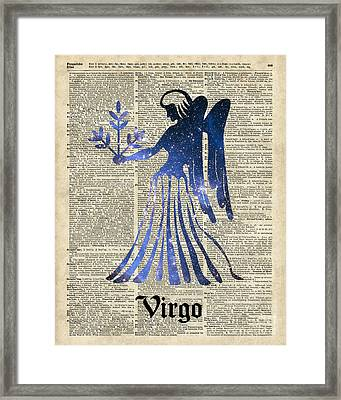 Zodiac Sign Virgo Maiden Framed Print by Jacob Kuch