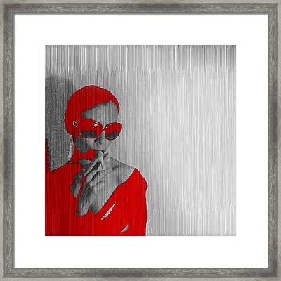 Zoe In Red Framed Print by Naxart Studio