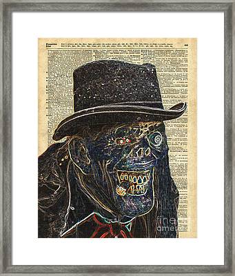 Zombie Apocalypse,monster,walking Dead,ugly Halloween Creature  Framed Print by Jacob Kuch