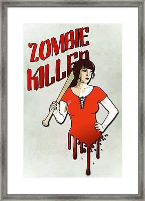 Zombie Killer Framed Print by Nicklas Gustafsson
