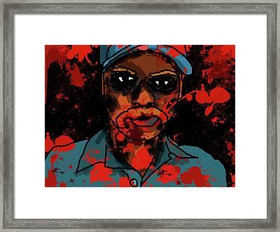 Zombie Portrait Framed Print by Jera Sky