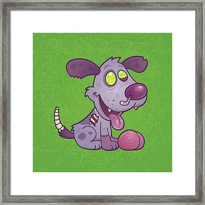 Zombie Puppy Framed Print by John Schwegel